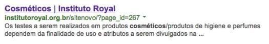 Na época, ao fazer uma simples busca no Google, já havia a indicação desses testes pelo site oficial do laboratório.