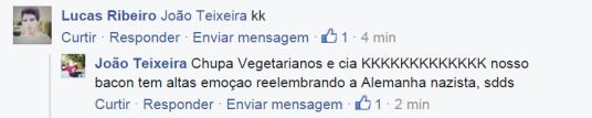 Na página do Facebook O Holocausto Animal, os amantes de bacon fazem chacotas e se vangloriam da crueldade sofrida pelos animais.