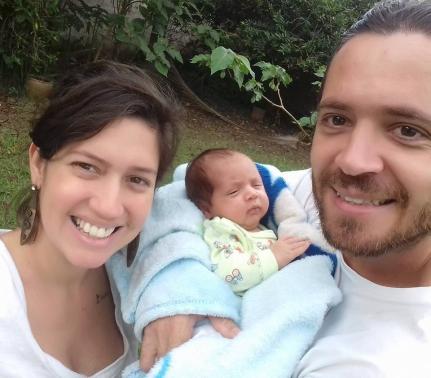 Mãe, pai e filho – veganos!