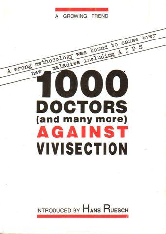 mil medicos contra a vivisseccao